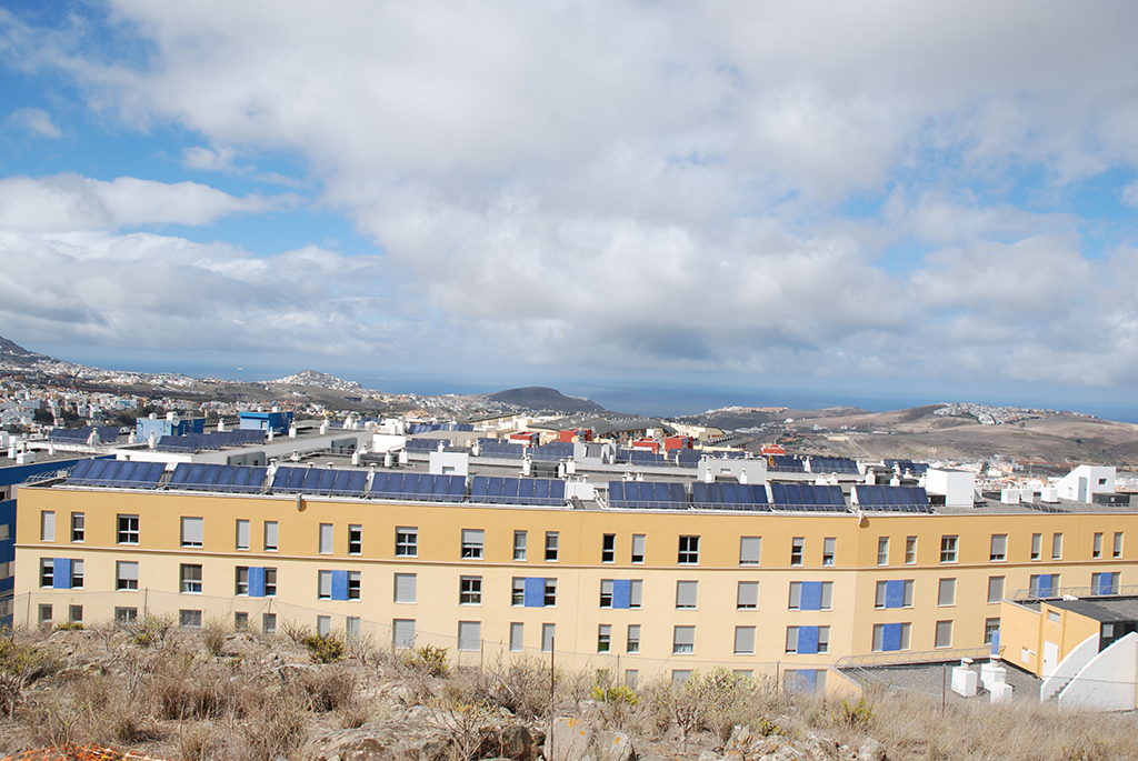 Producción de ACS con energía solar para 1.000 viviendas de VPO bioclimáticas