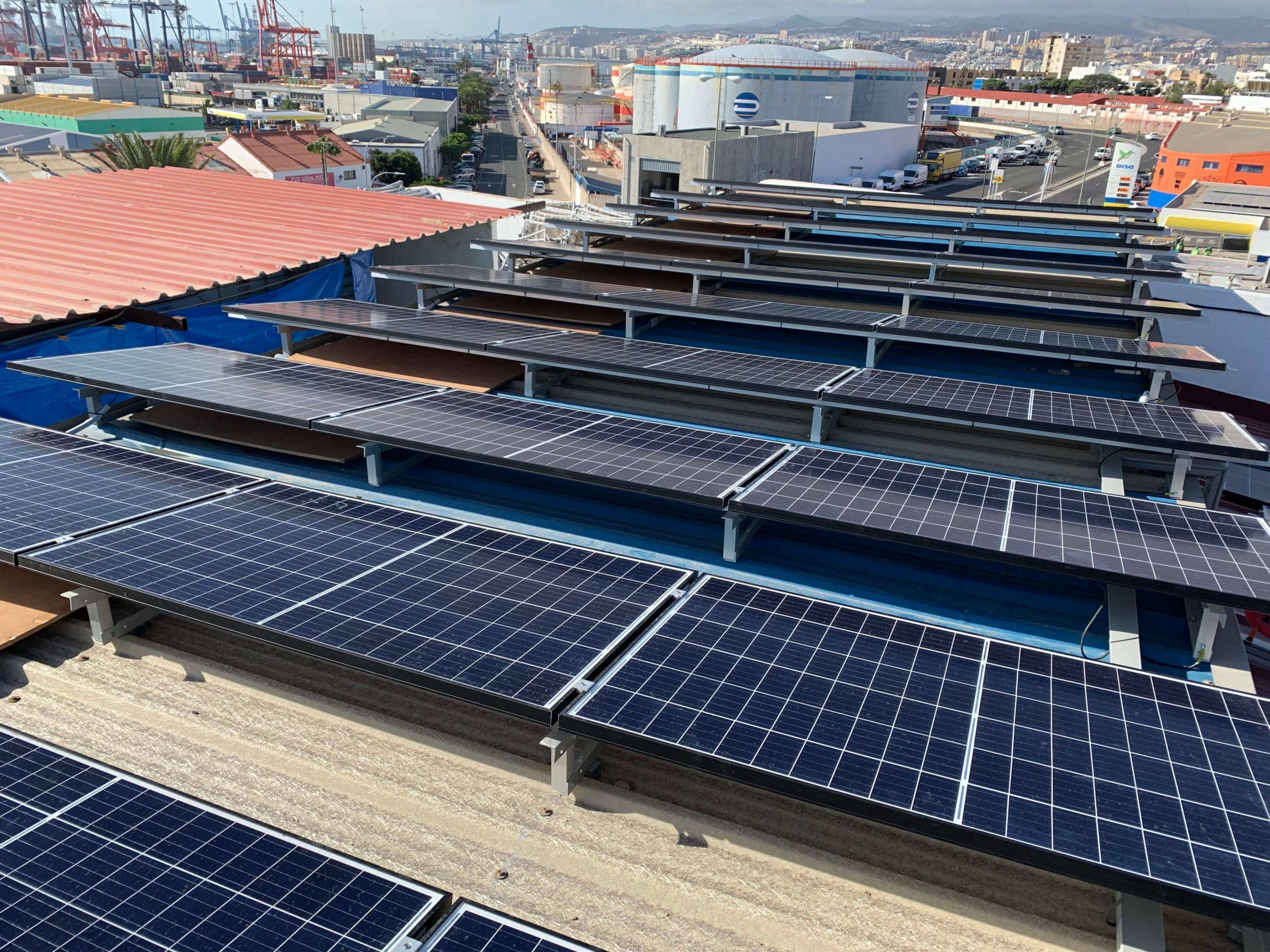 Planta fotovoltaica de 30 kW en régimen de autoconsumo  de energía a almacenista-frigorífico del sector de la distribución de alimentación