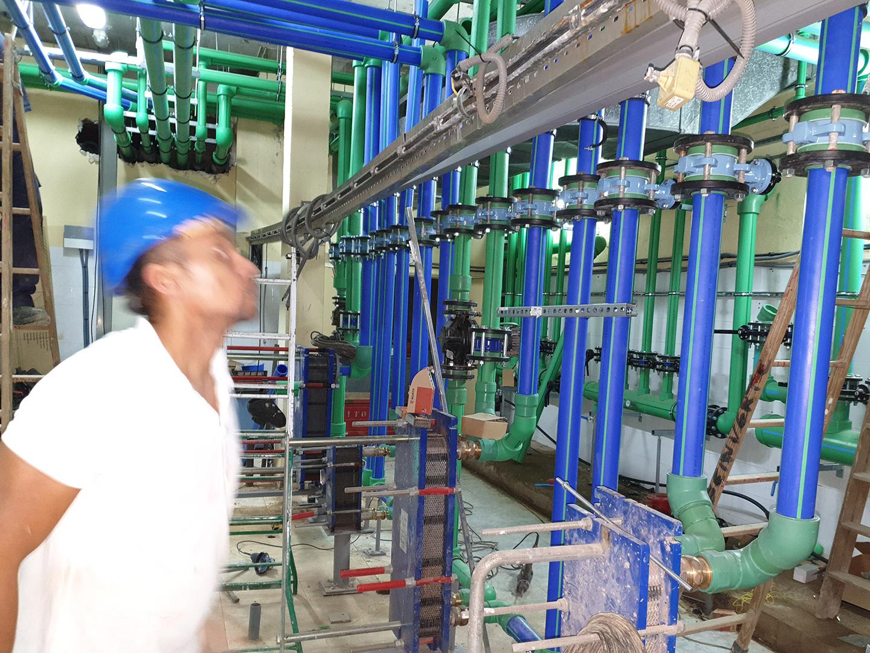 Renovación de las instalaciones térmicas mediante la reforma de la distribución de acs y salas de máquinas térmicas en Hotel Barceló Corralejo Bay